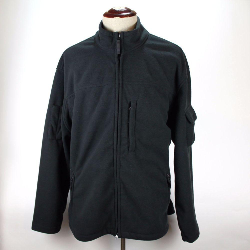 Duluth trading co fleece jacket coat size xl mens black full zip