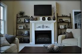 Image Result For Ladder Bookcases Beside Fireplace Wall Decor Living Room Trendy Wall Decor Fireplace Decor