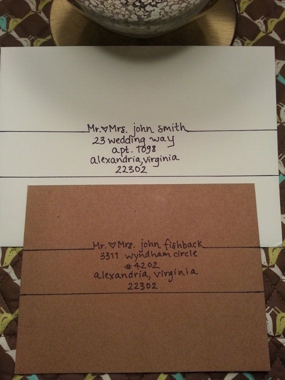 Handwritten Addresses  Crafts Letter Writing