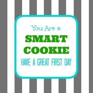 smart cookie student, you are a smart cookie, back to school, printable tag back to school, smart cookie printable