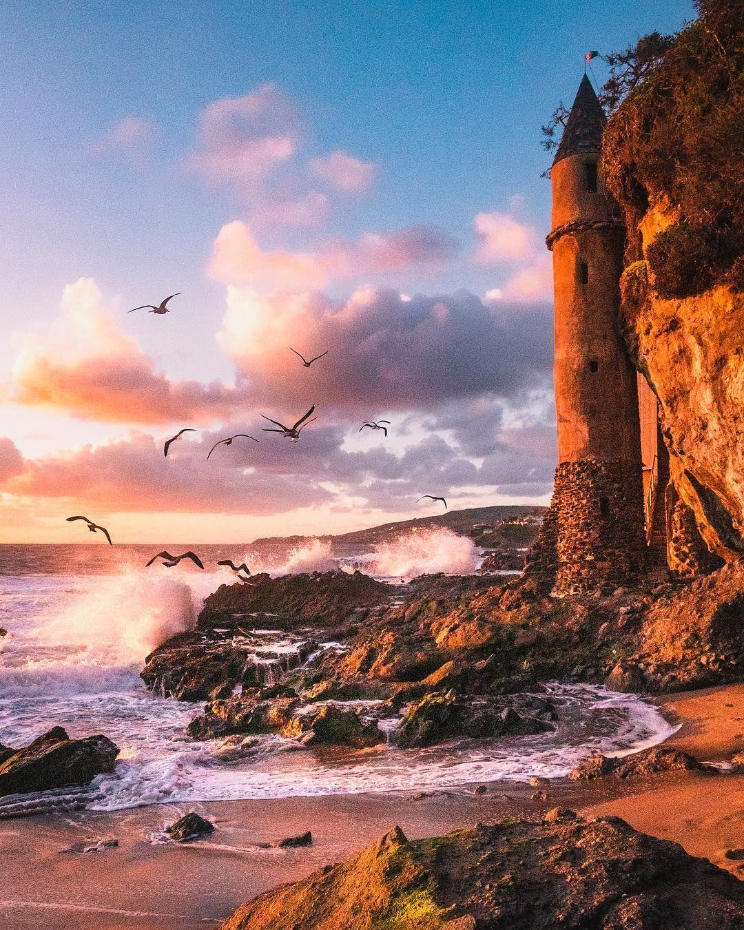 "Eric Rubens on Instagram: ""Golden hour paints the coastline"