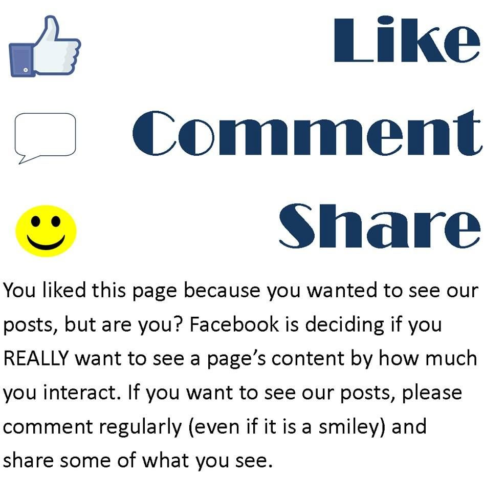 """Everything Saw This Image On My Facebook Feed Is It: Please Help Me Keep My Facebook Page """"alive"""" And Being"""