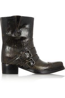Miu Miu Leather Biker Boots