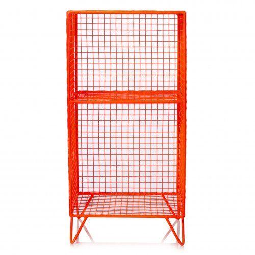 Grid Two Shelf Storage Unit