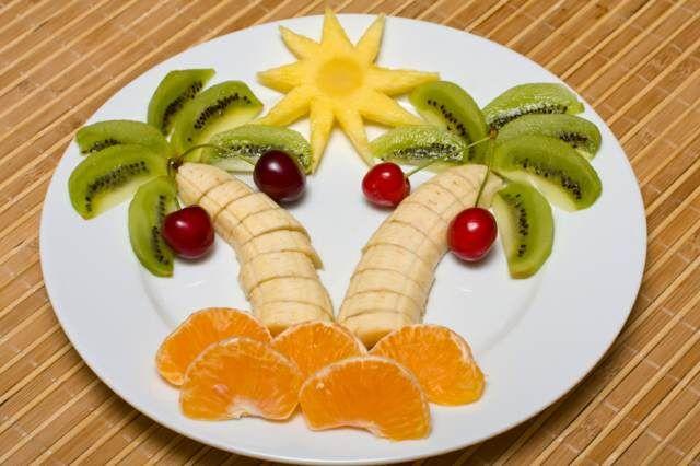 palmera original de frutas ideas interesantes fiestas infantiles