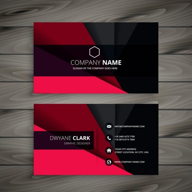 Download Black And Red Business Card For Free Visiting Card