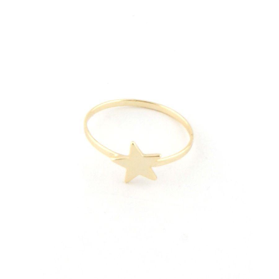 Anillo De Plata Chapada En Oro En Forma De Estrella Precio 11 99