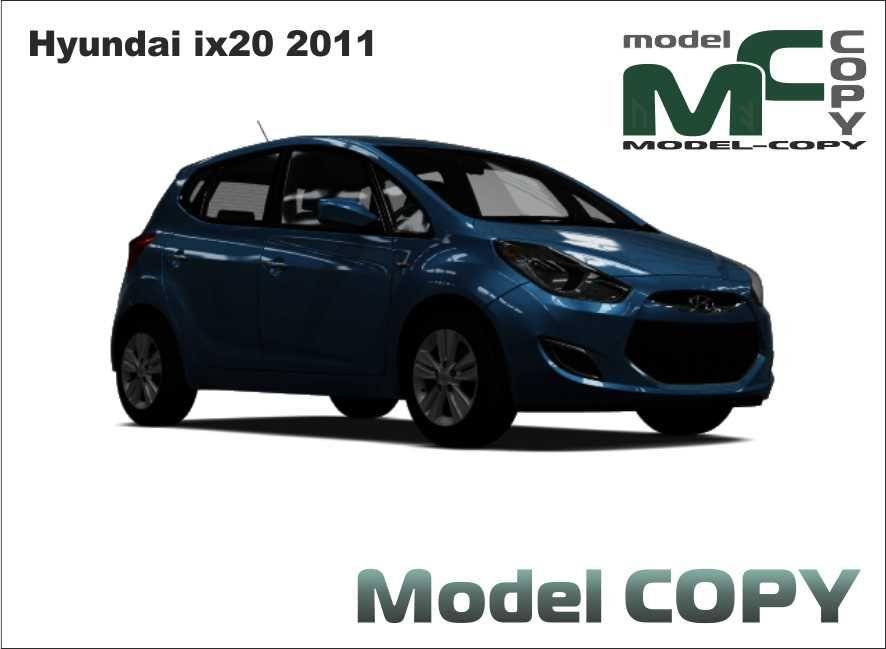 Hyundai Ix20 2011 Modello 3d Model Copy Hyundai Modello 3d