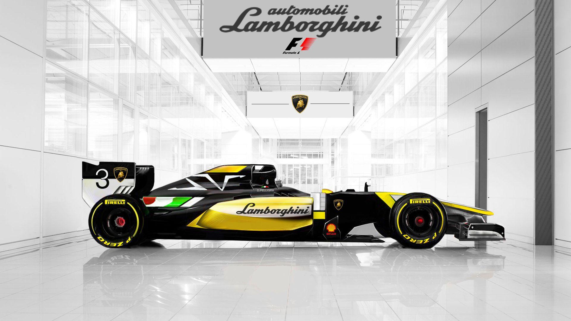 Lamborghini Formula1 2014 Concept Designed By Daniele Pelligra