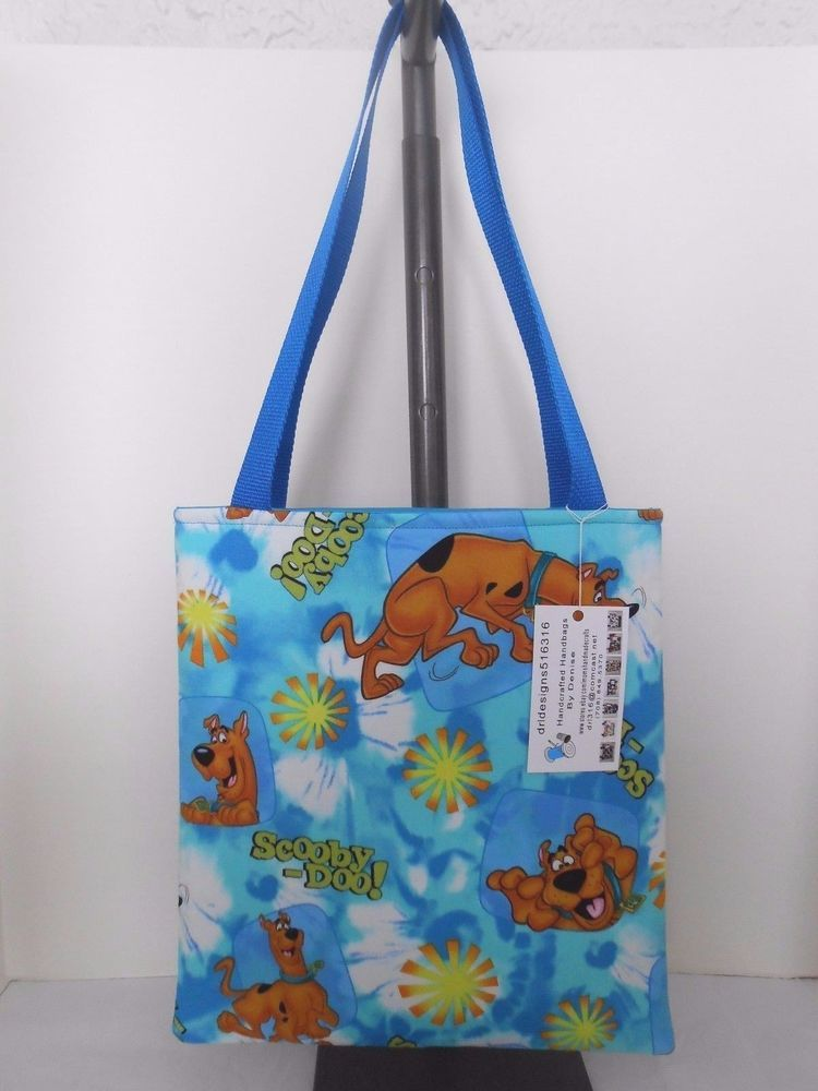 Kids Boy or Girls Scooby Doo Cotton Fabric Handmade Tote Bag Toy ...