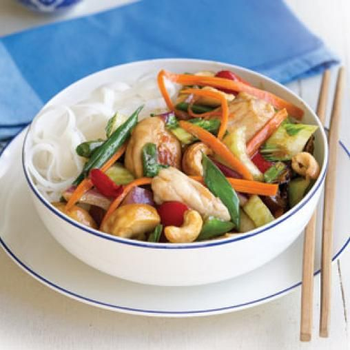 Chicken And Cashew Nut Stir Fry With Rice Noodles Australian