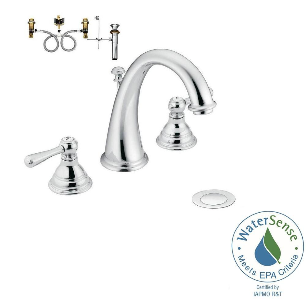 Moen Kingsley 8 In Widespread 2 Handle High Arc Bathroom Faucet