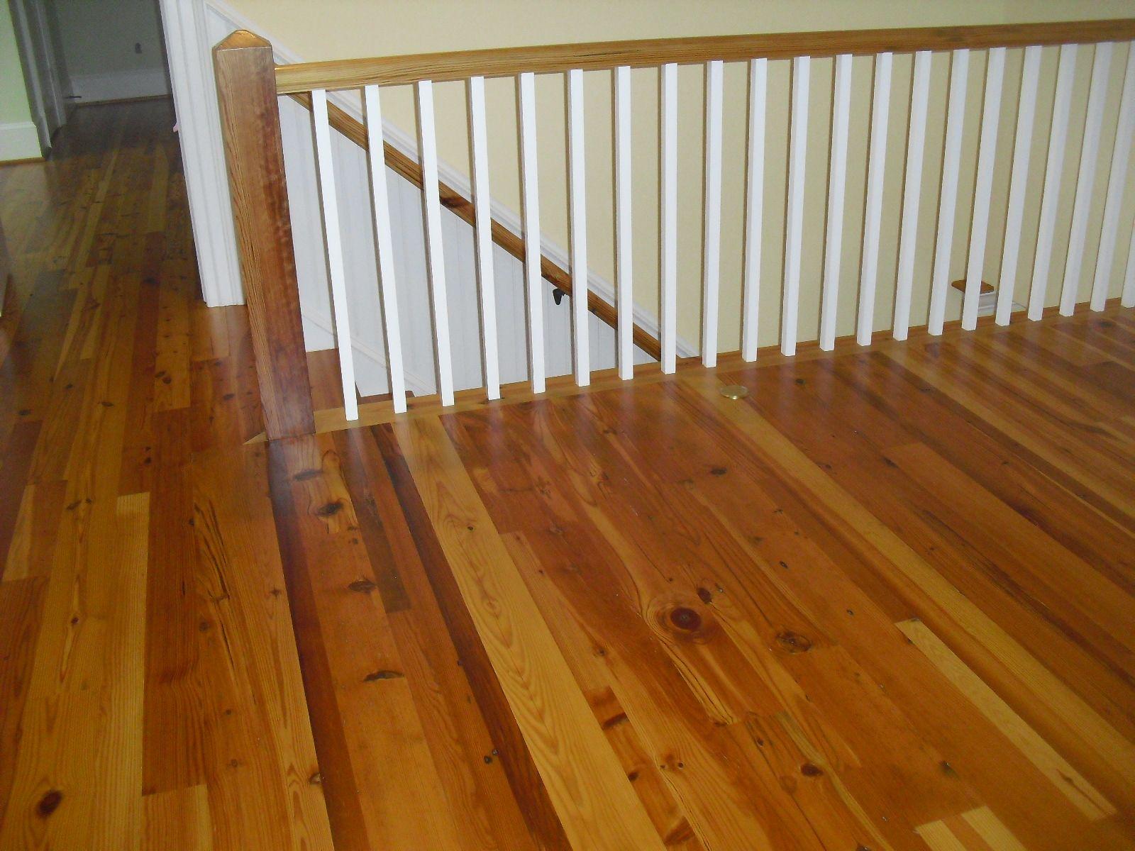Flooring, Handrails & Newell Post  -Olde Point  -OldGrowthRiverwood.com