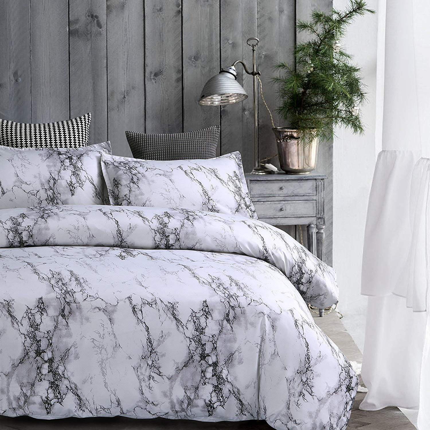 Amor Amore White Marble Comforter Gray Grey And White Comforter