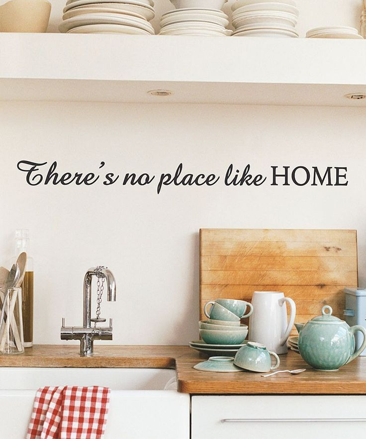 Theres No Place Like Home Decal Home Home Decor Kitchen Decor