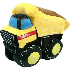 """Truck Pillow Construction Trucks Tonka Style Pillow is approximately 10/"""" X 11"""
