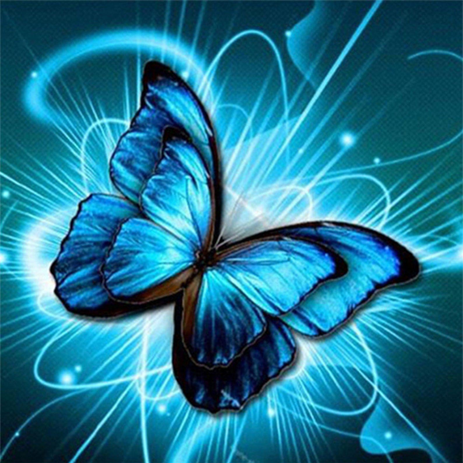 Beautiful Blue Butterfly 5D Diamond Painting Kit Embroidery Cross Stitch Rhinestone Mosaic Painting Home Decor Christmas Gift