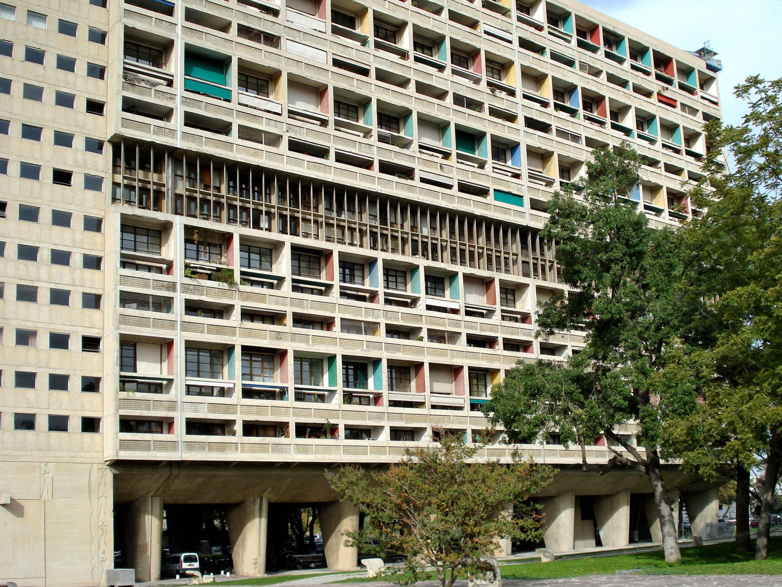 Le Corbusier Unite D Habitation unité d'habitation (cite radieuse), marseille, 1947-52, by