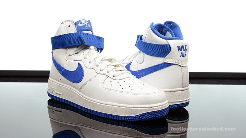Air Force 1 Alto / Uñas Azules Blancos Og