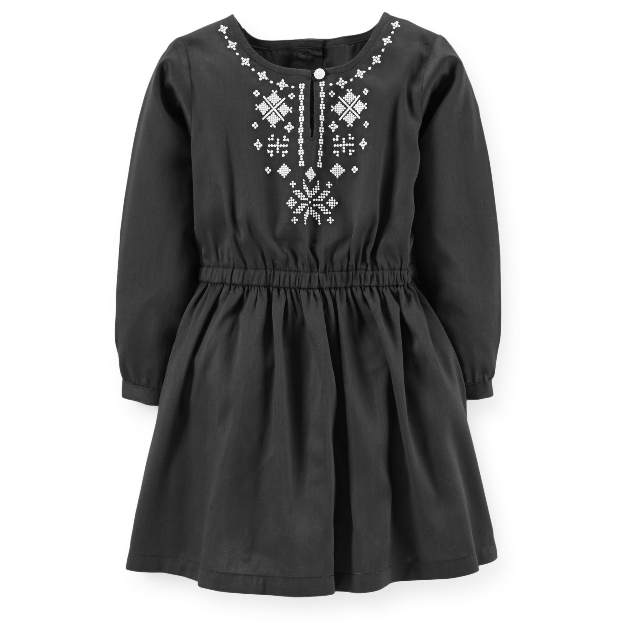 77dbafb2 Sateen Embroidered Dress | Carter's | carters! | Toddler girl ...
