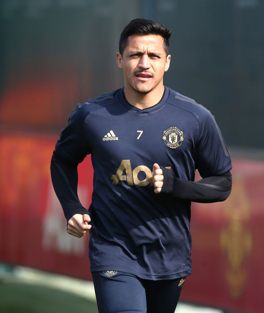 Alexis Sanchez Of Manchester United In Action During A First