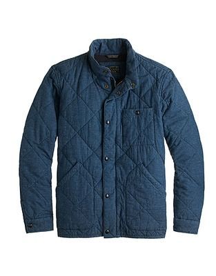 Broadmoor Quilted Jacket In Japanese Chambray Google Search Jackets Quilted Jacket Winter Jackets