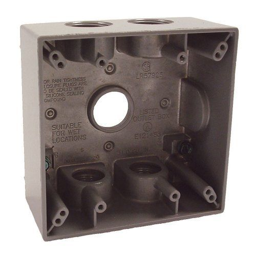 10 32 Hubbell Bell 5345 0 Two Gang 5 3 4 Inch Outlets Weatherproof Box Gray By Hubbell Bell Http Www Amazon Com Dp B00004wz2 Weatherproofing Plates On Wall