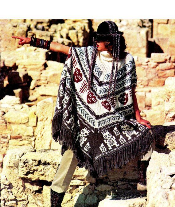 Vintage 70\'s Aztec Knit \