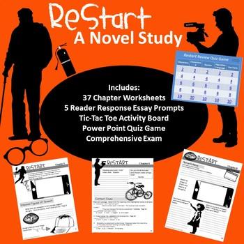 Restart Novel Study Bundle Novels, Essay prompts