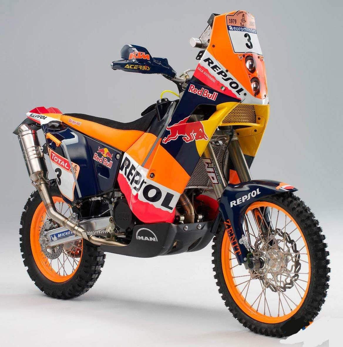 MINIATUR 1:18 Modell KTM 450 RALLY Dakar Rally Motocross Enduro Motorrad