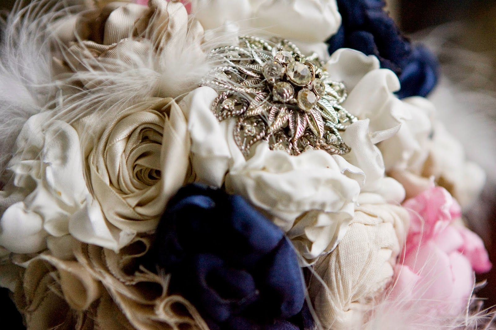 Brooch and Fabric Flower Bouquet Tutorial DIY ~ Bows, Bangles ...
