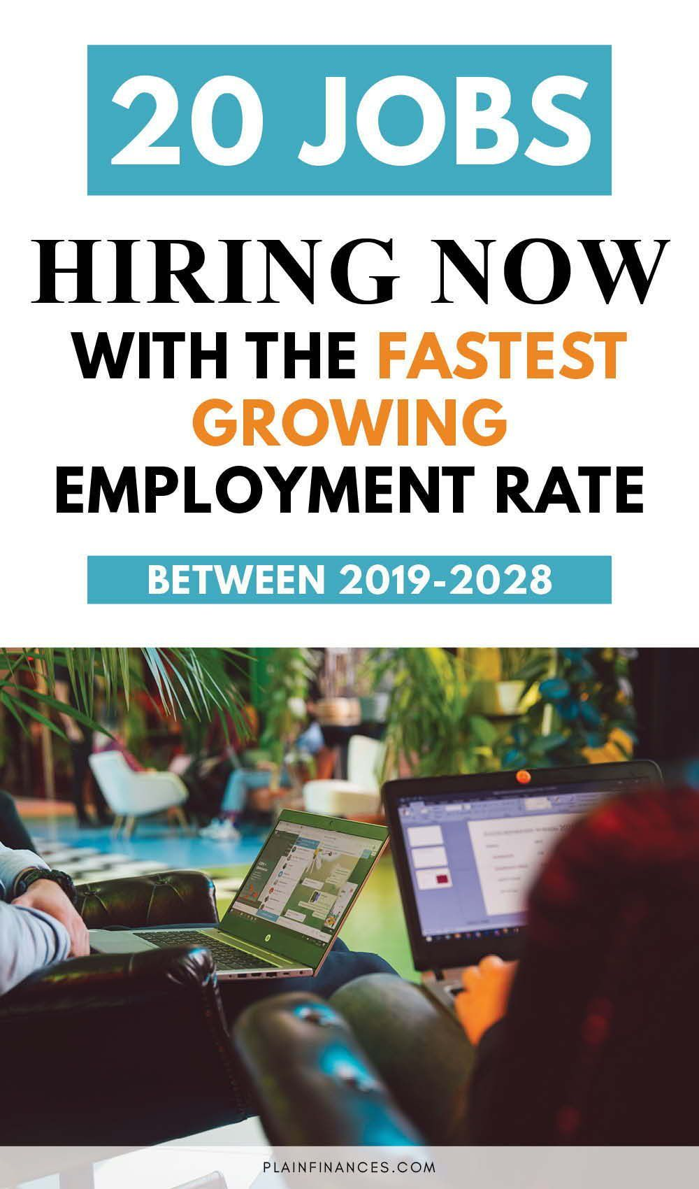20 Jobs Hiring Now With the Fastest Growing Employment