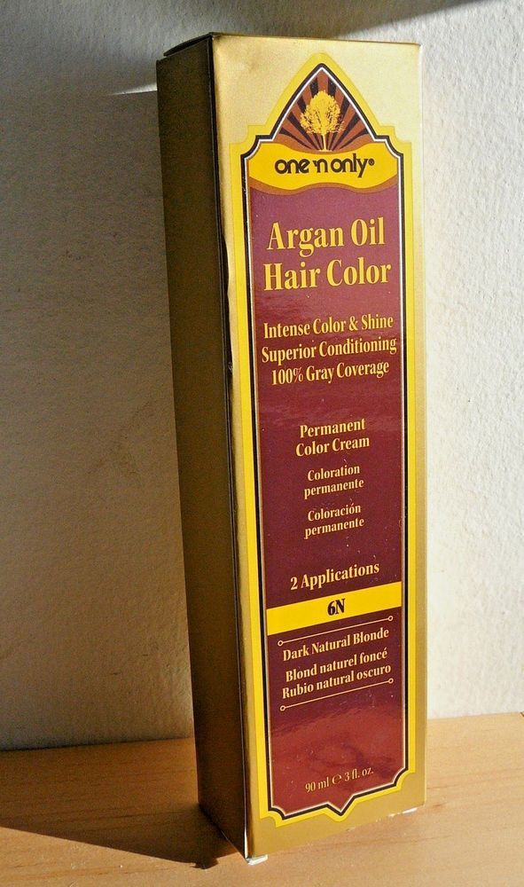 Argan Oil Hair Color Dark Natural Blonde NEW Sealed Box One n Only ...