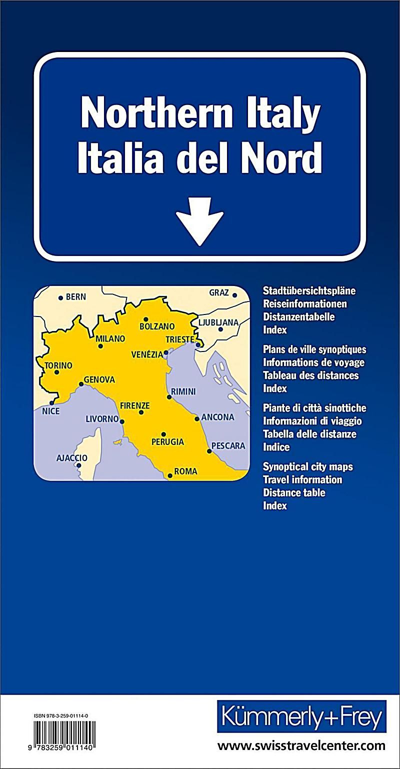 Kummerly Frey Karte Italien Nord Strassenkarte Italie Du Nord