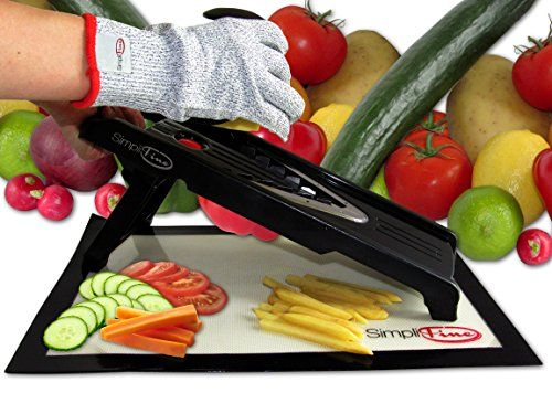 Simplifine Mandoline Slicer And Chopper With Free Cut Resistant Custom Kitchen Mandoline Inspiration