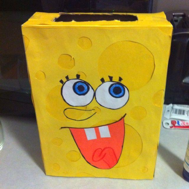 Valentine Box For Boys (spongebob)!