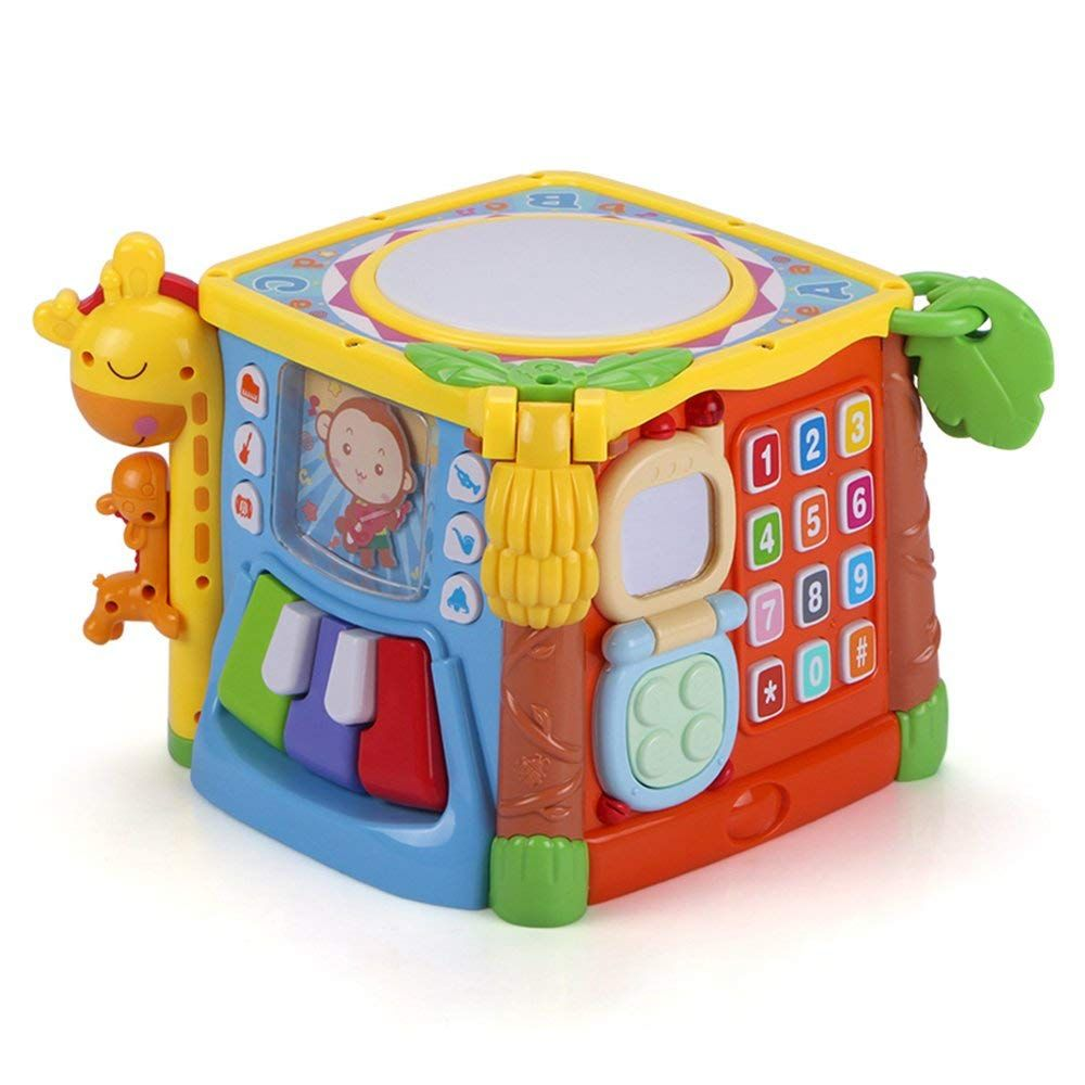 MzekiR Activity Cube - 5 in 1 Music Play Cube with Drum ...