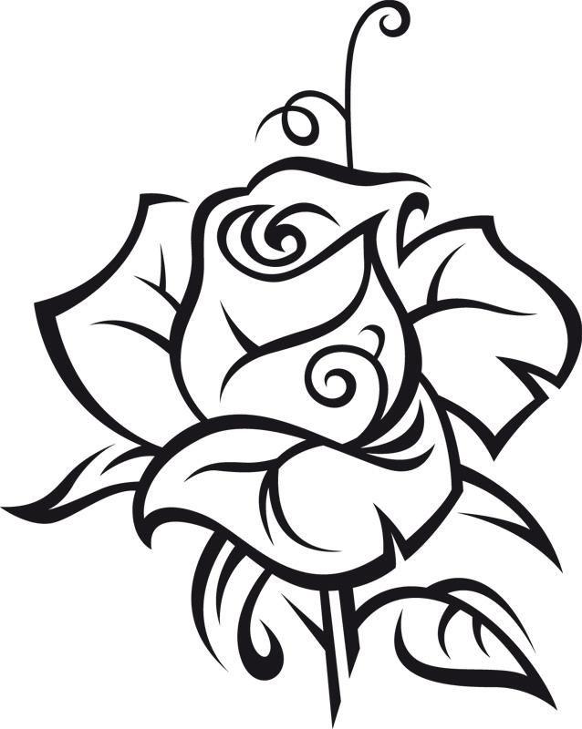 Wandtattoo Rose - Ralcom Design. Online Shop für Wandtattoos ...