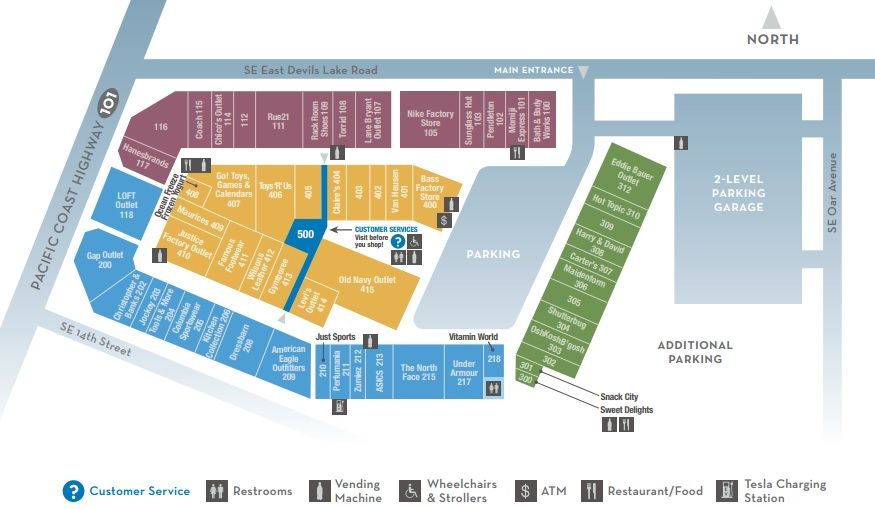 Lincoln City Outlets Shopping Plan Lincoln City City Outlets