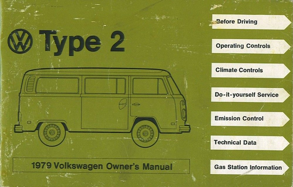 1979 Volkswagen Owner's Manual | GRAPHIC DESIGN | Volkswagen