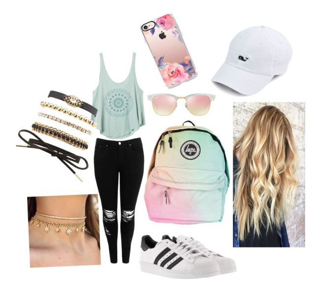 """""""Untitled #28"""" by pauliina-lehtikevari on Polyvore featuring Boohoo, RVCA, adidas, Charlotte Russe, Ray-Ban and Casetify"""