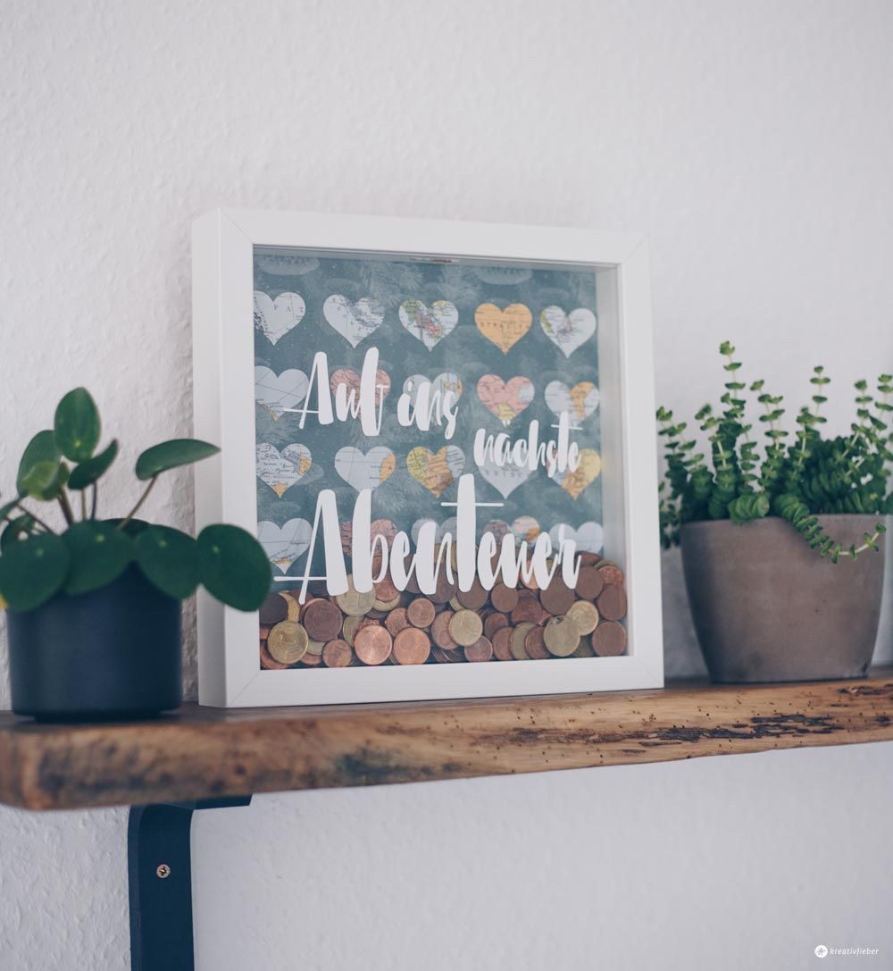 DIY Geldgeschenk zur Hochzeit im Ribba Rahmen - Tipps zum Geldsparen #weddinggift
