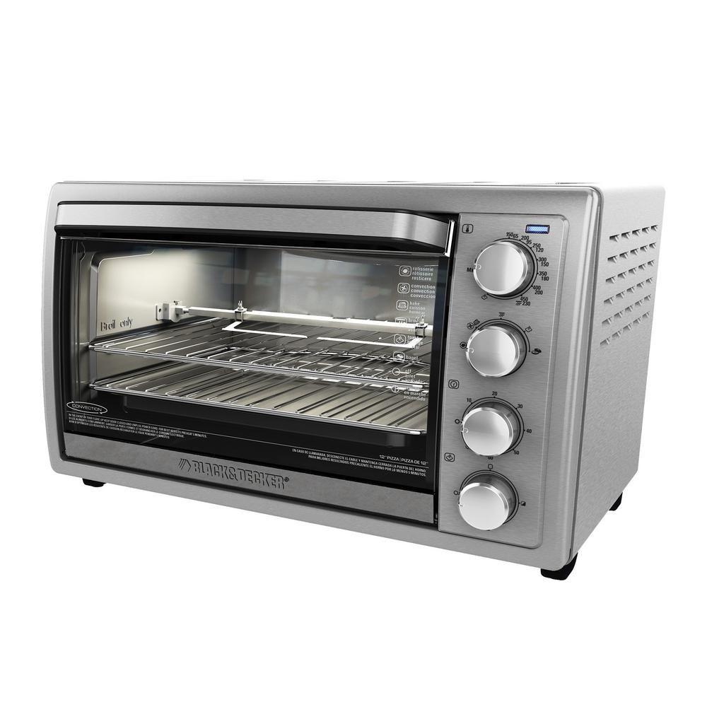 Black Decker 1500 W 9 Slice Silver Toaster Oven With Temperature