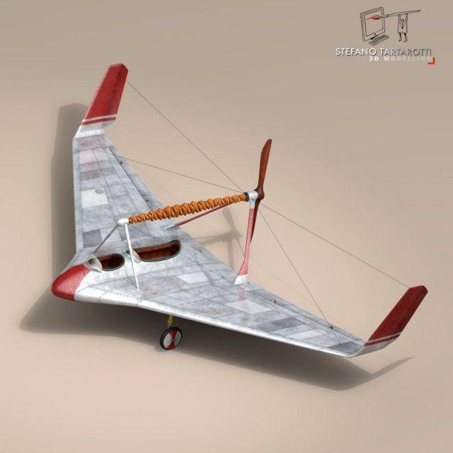 3d Model Rubber Band Airplane C4d Obj 3ds Fbx Ma Lwo 60119 3d