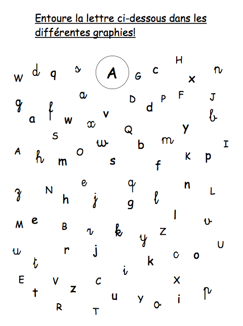 A schoolwork abc s - Lettres alphabet maternelle ...