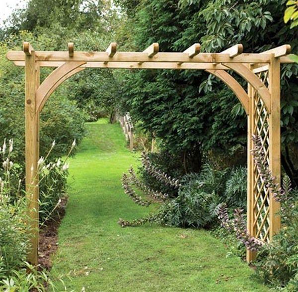 Forest Garden Ultima Pergola 2m Wide Wooden Garden Arch Garden