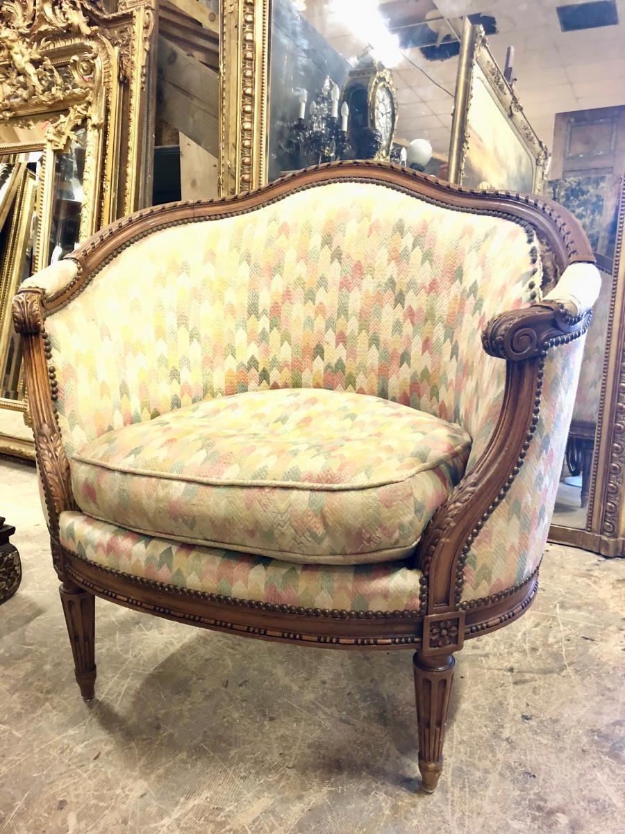 Canape Marquise De Style Louis Xvi Epoque Napoleon Iii Antiquites Simon Proantic Canape Mobilier Ancien Mobilier