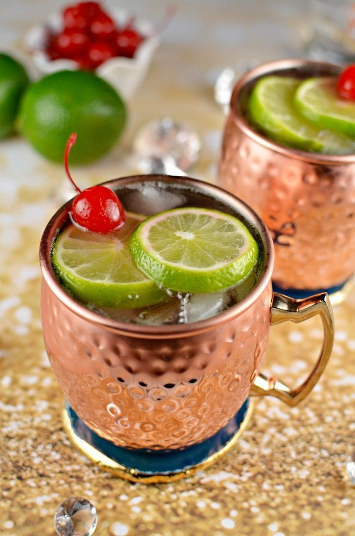 Cherry Lime Moscow Mule Cocktail Receta Comida Cockteles Y