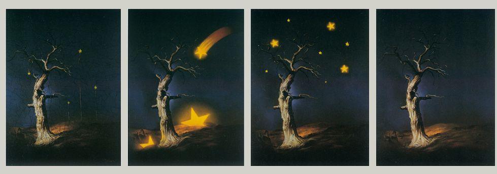 مرثیه.(1365) در چهار قسمت از سمت راست. The Elegy. (1986) In four parts from right to left.  مرتضى كاتوزيان