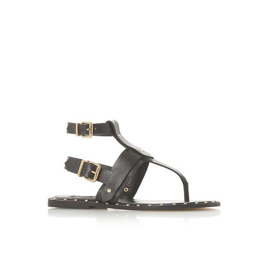 f7b7d13c3d8d LORRENZO - Double Buckle Gladiator Sandal - black